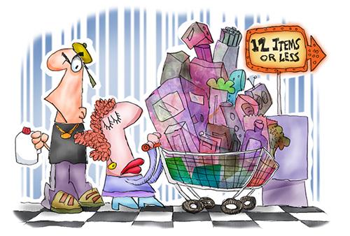 shopper The Line in Winter